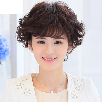Parrucca e Acconciature capelli lunghi morbidi capelli corti-A ... 148d2930f48e