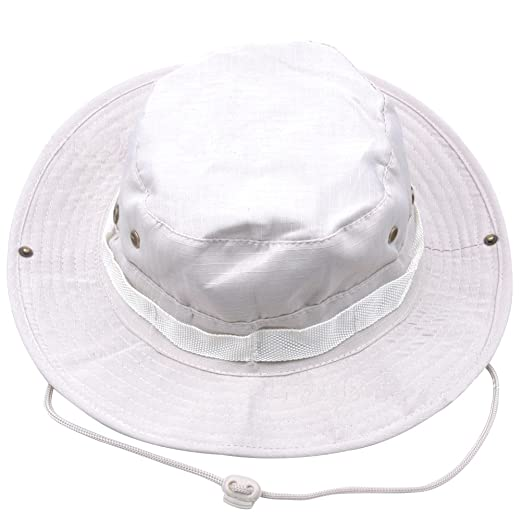 Outdoor Sunshade Fisherman Fishing Hat Sun Cap Bucket Hat with String Wide  Brim Hat for Men 096c6d685e1