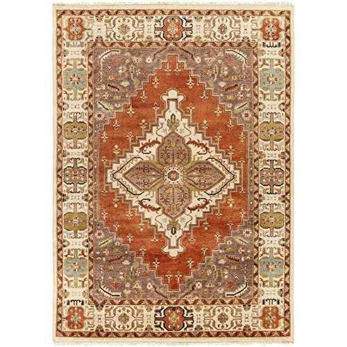 (Surya Zeus Rust 8-Feet by 11-Feet Area Rug)