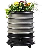 WormBox : Vermicompostador 4 bandejas Gris + Jardinera - 72 litros