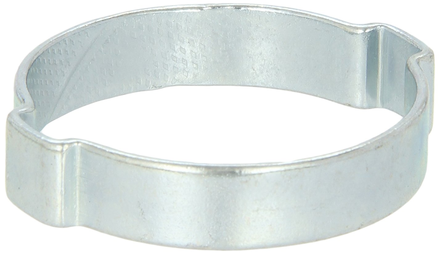 Oetiker 10100030 Zinc-Plated Steel Hose Clamp, Double Ear, Clamp ID Range 19 mm (Closed) - 23 mm (Open) (Pack of 100)