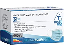 THINKA PROCEDURE MASK WITH EARLOOPS (50pcs) - Medical Mask - ASTM L1 Approved Face Mask