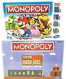 Monopoly Gamer and Super Mario Bros Collector's Edition Board Game Bundle