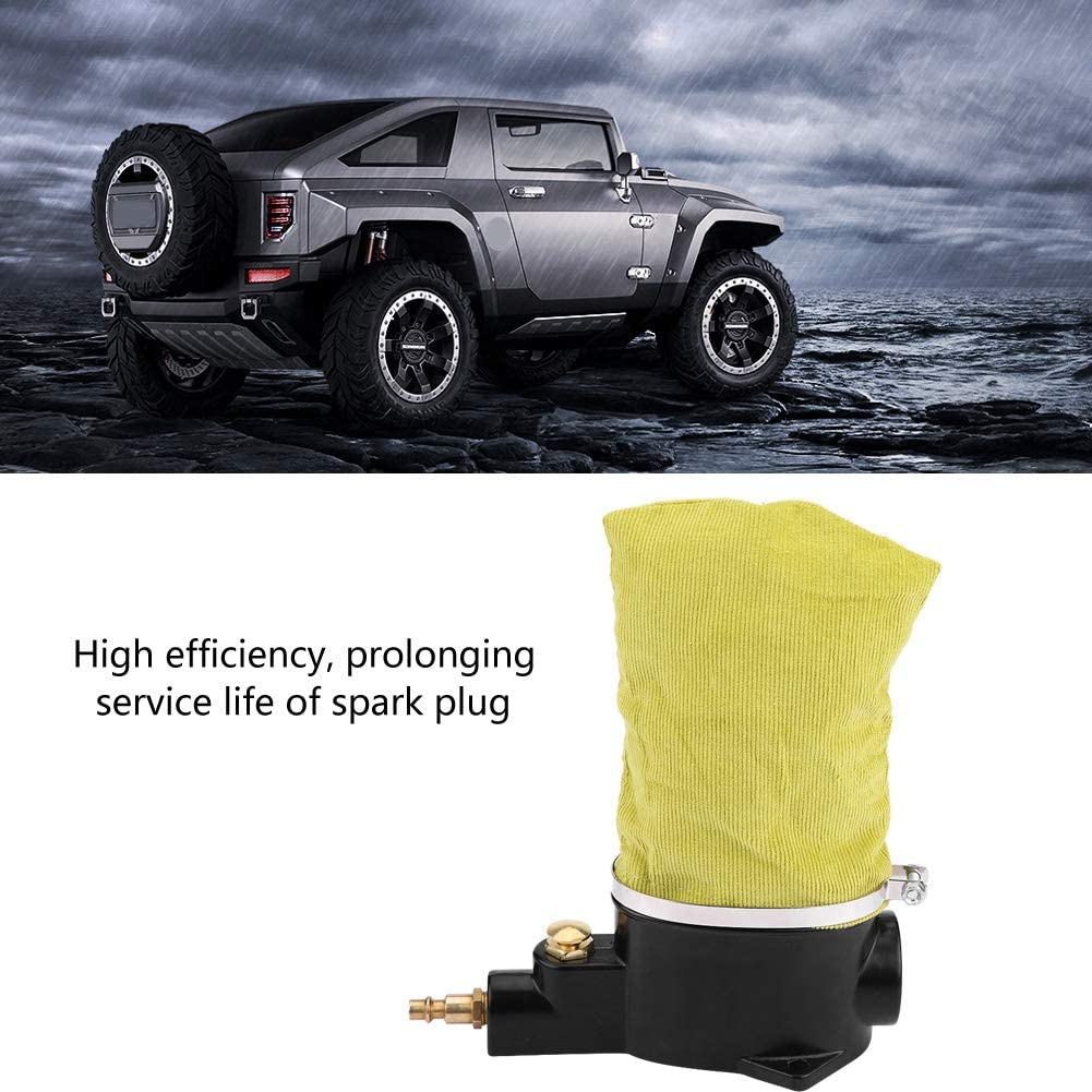 Qiilu Car Pneumatic Air Spark Plug Cleaner Cleaning Tool with Abrasive