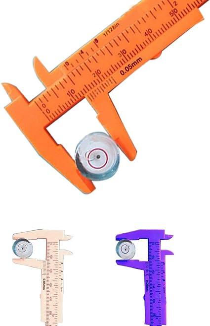80 mm plástico calibre medición precisa Regla: Amazon.es: Bricolaje y herramientas