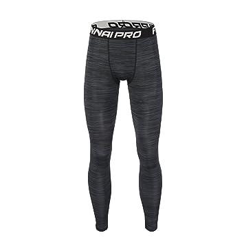 Barrageon Pantalones Largos Tight de Comprensión para Hombre Mallas Largas de Deportivos Baselayer Secado Rápido para Ejercicio Gimnasio Entrenamiento ...