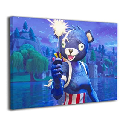 Amazon Com Hothz Fortnite Wall Art Printed On Canvas