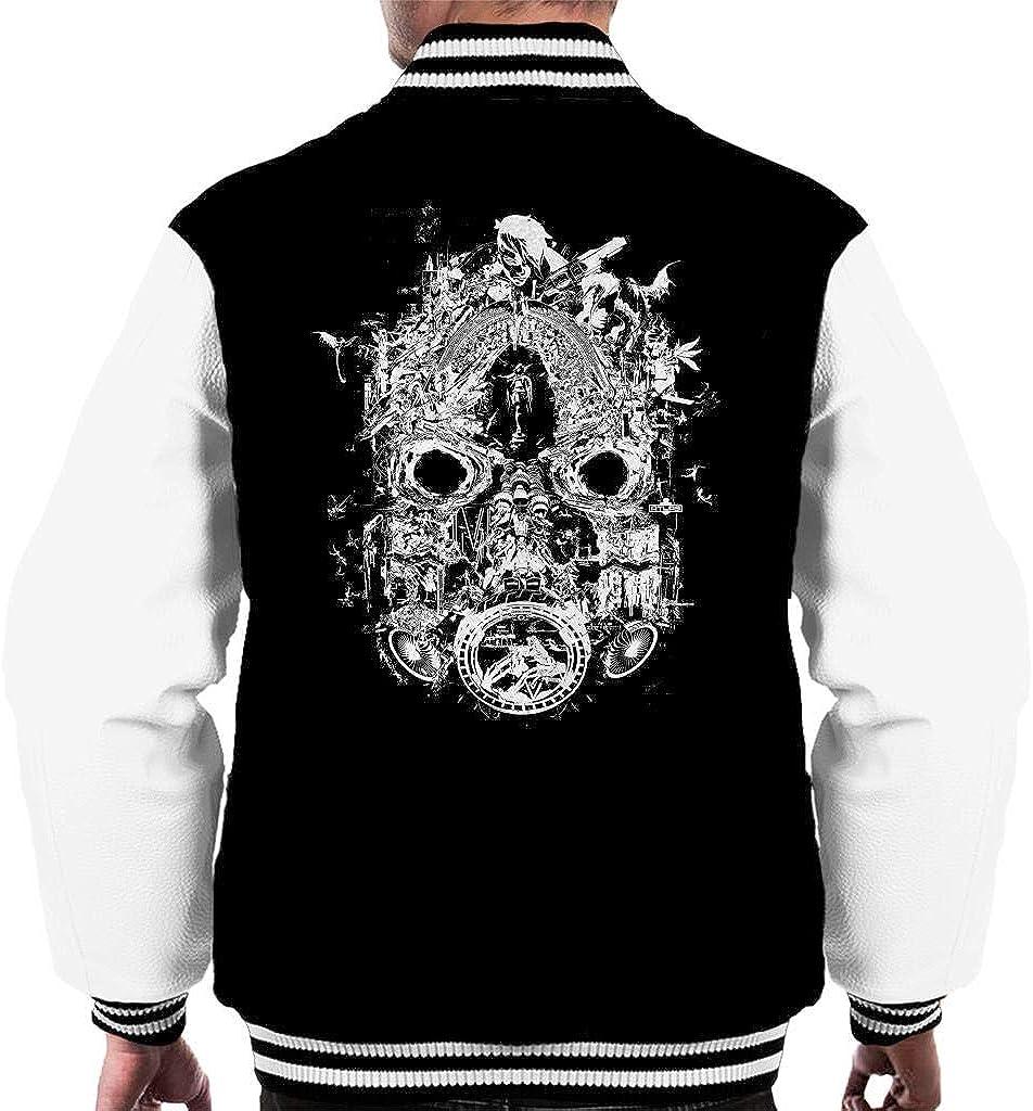 Cloud City 7 Borderlands 3 Mask of Mayhem White Print Mens Varsity Jacket