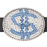 Iced Out Bling Hip Hop BLUE DOLLAR Belt