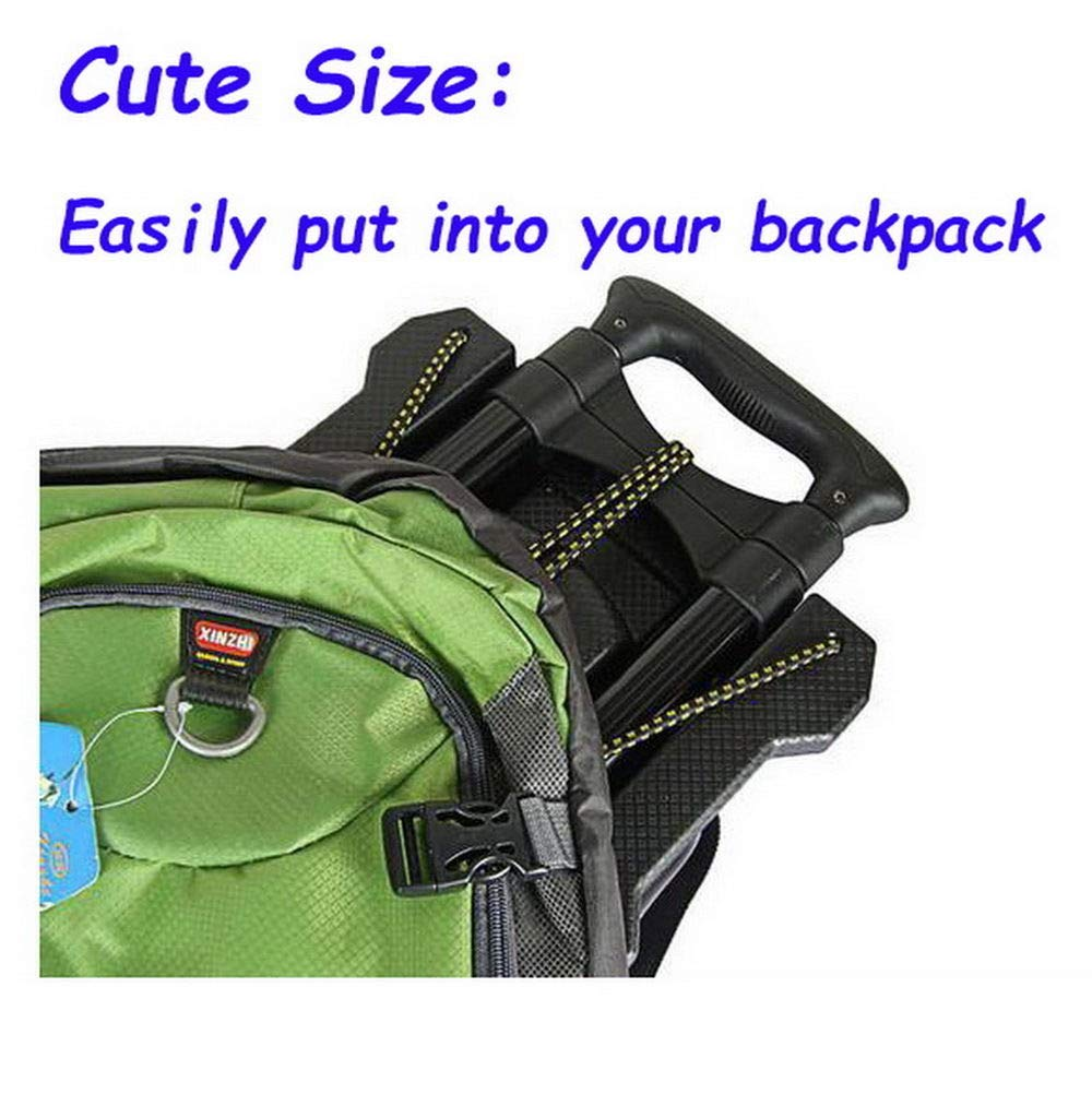 Portable Folding Hand Truck Dolly Utility Cart Foldable Trolley put in Backpack Push Luggage Flatbed Cart by nice--buy (Image #8)