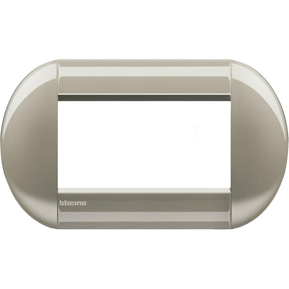 Bticino livinglight Placa 4 m/ódulos titanio