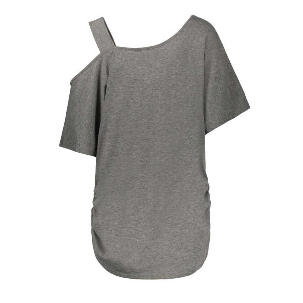 LuckyGirls Camisetas Mujer Manga Corta Verano Originales Mariposas Estampado Expuesto Hombro Sexy Remeras Blusa Camisas Tallas Grandes(XL~5XL): Amazon.es: ...