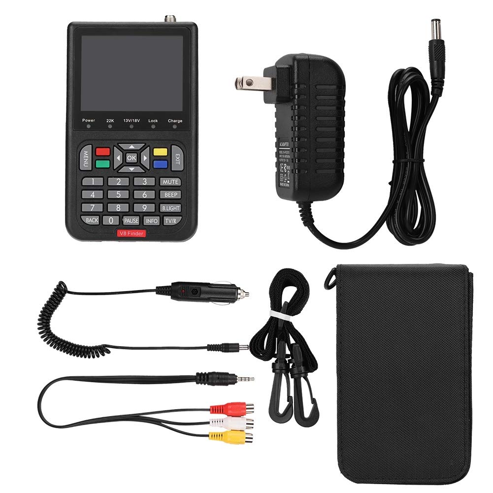 Satellite Finders, HD 1080P 3.5 inch LCD Digital V8 Satellite Signal Finder DVB-S Satellite Signal Finder Detector.(us) by Ciglow
