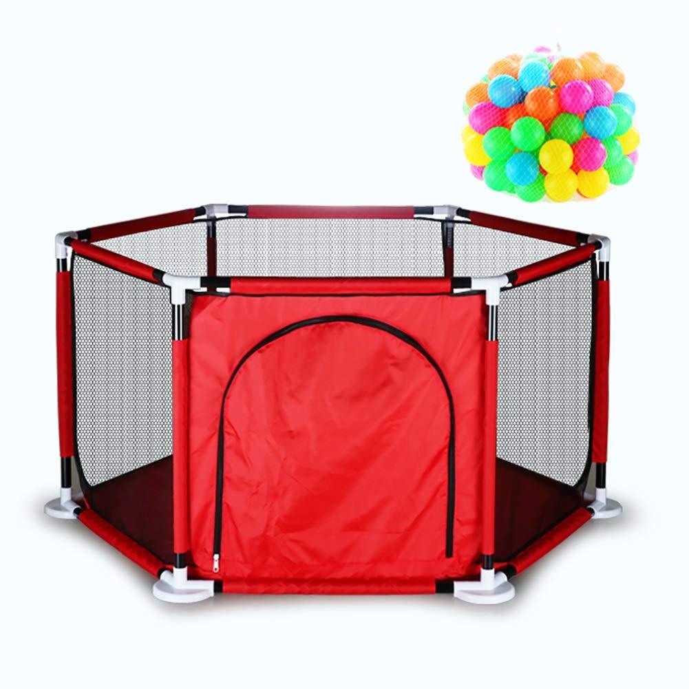 アンマーショップ ベビーサークル 6パネルベビーベビーサークル、 B07NNZ4DN4 50 幼児用室内遊び場 幼児用ゲームフェンス、 幼児用室内遊び場 子供の安全活動センター (色 : Red, サイズ さいず : With 50 Balls) With 50 Balls Red B07NNZ4DN4, 太宰府市:da967eb7 --- a0267596.xsph.ru