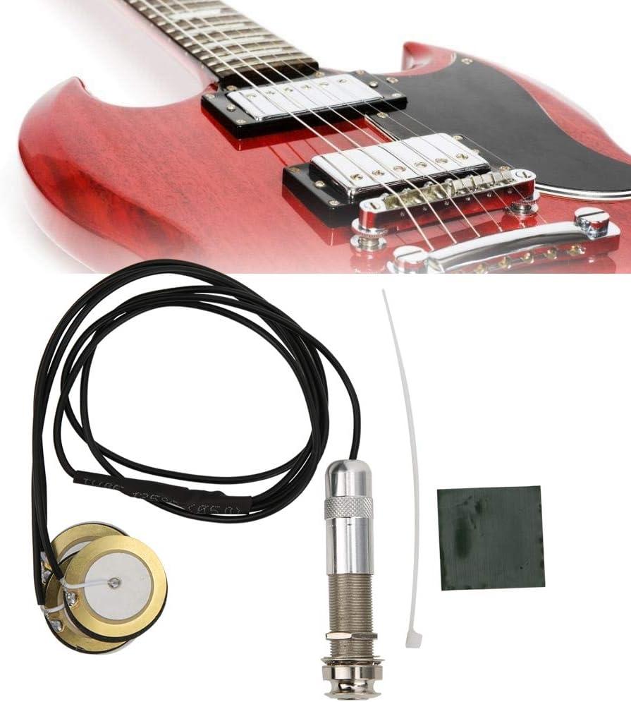 Guitare Pickup Piezo Round Guitar Pickup Transducteur Professionnel Microphone Acoustique Ukul/él/é Folk Guitare Accessoires