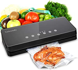 Vacuum Sealer Machine, Automatic Food Sealer Sealing System For Food Saver with Cutter for Food Preservation, Starter Kit for Sous Vide Dry & Moist Food Modes