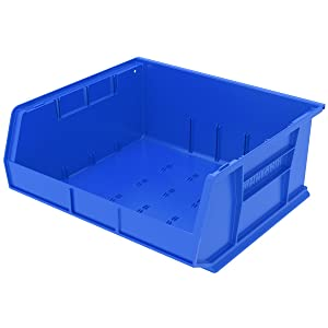 Akro-Mils 30250 Plastic Storage Stacking AkroBin, 15-Inch by 16-Inch by 7-Inch, Blue, Case of 6