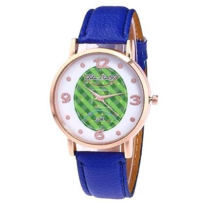 Toamen Relojes De Moda, Toamen Reloj De Pulsera De Cuarzo AnalóGico Redondo De Cuero Para