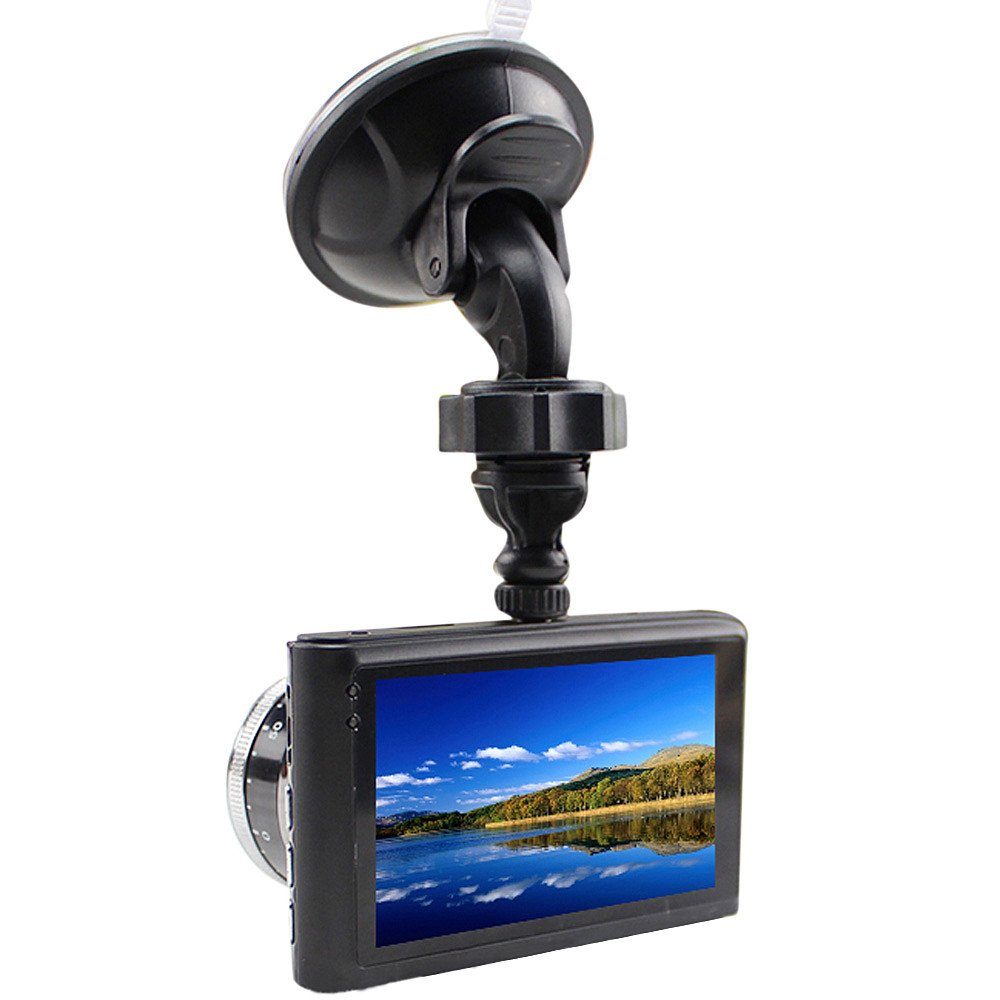 KUNAW 1080P Full HD Car DVR Video Recorder HD 3.0 Inch LCD Dashcam 170° Angle Camera for Car G Sensor WDR Motion Detection and Night Vision Loop Recording