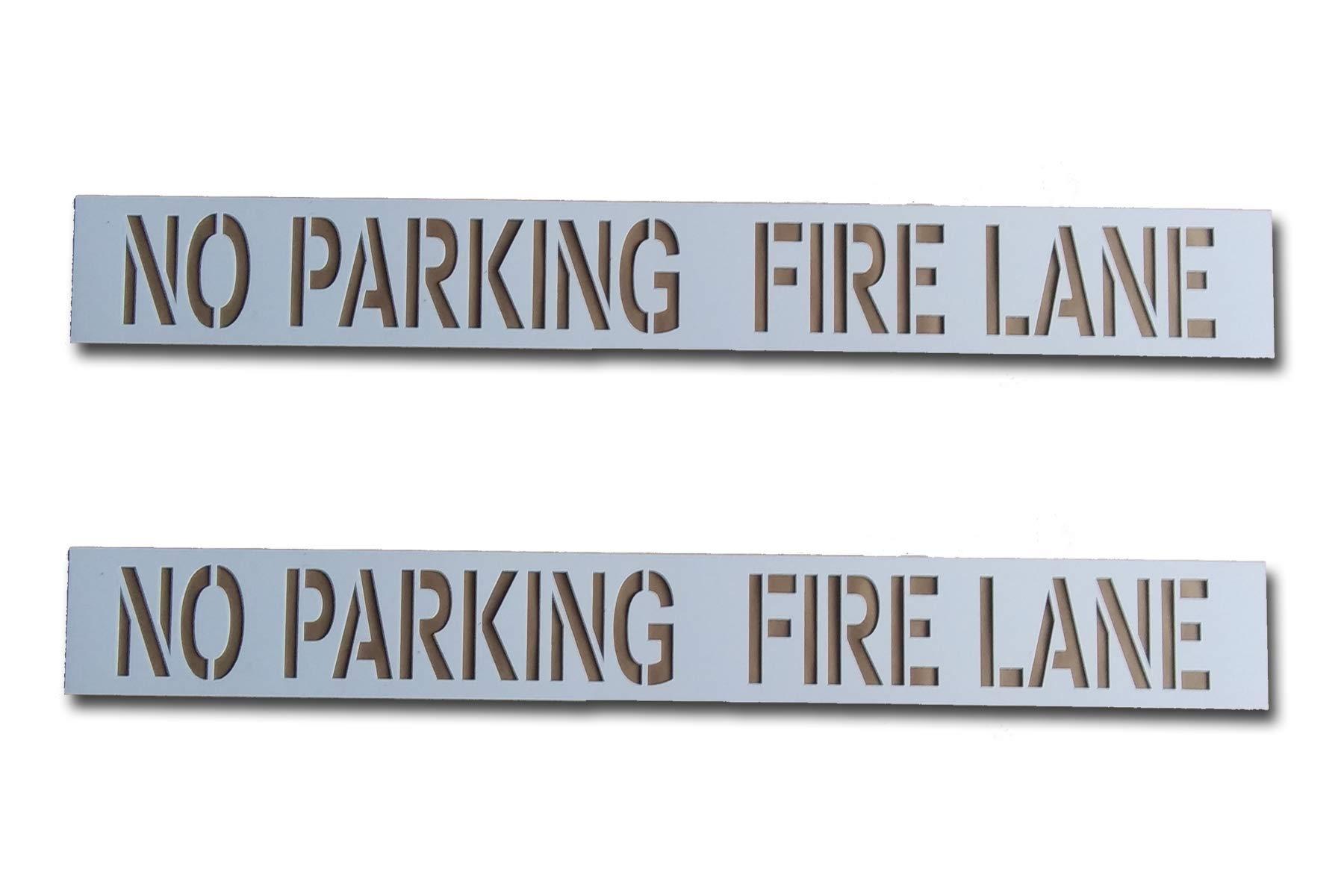 Curb-N-Sign NO Parking FIRE Lane Stencil (2 Stencils) by Curb-N-Sign
