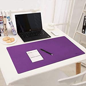Desk blotter,Mouse Pad,zxtrby Desk mat for Office Home Desk mat Waterproof Cotton & Nano Technology Water Resistant and Non-Slip Mat for Desktops and Laptops, 24''x14'' (Purple)