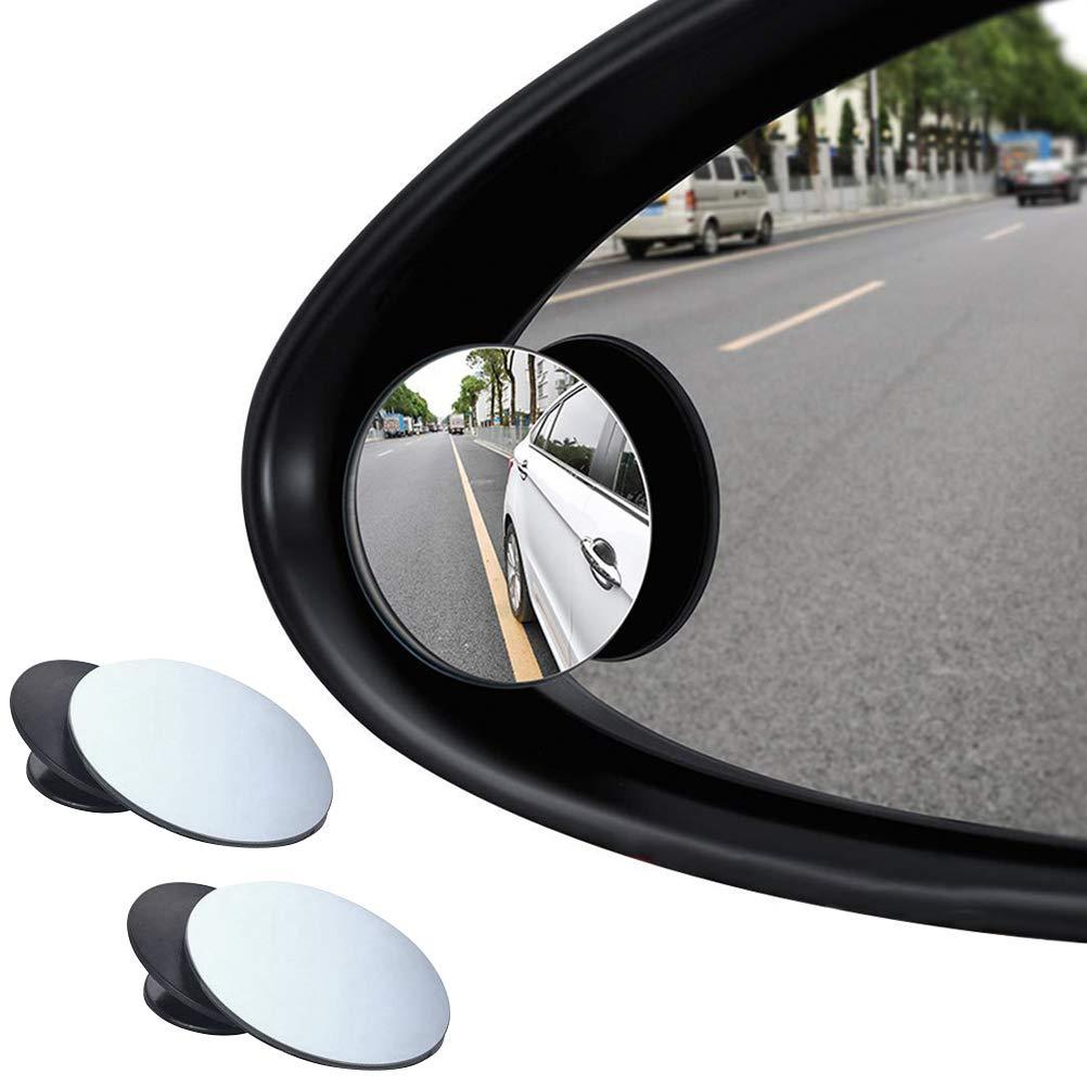 BUYGOO 2pz Specchietti per Angolo Morto 360 Grandangolare Regolabile Punto Cieco Specchio Angolo Cieco Regolabile Auto Specchio Laterale Auto Laterale Specchio Convesso Retrovisore Angolo Cieco