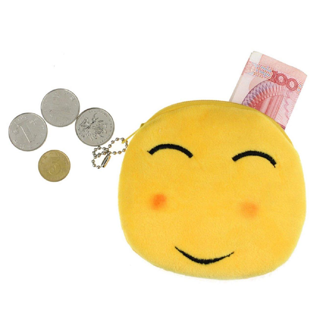 Malloom®moda mujeres chica dama precioso QQ Emoji Smiley pequeña carpeta monedero del bolso monedero del cambio carteras de monedas billetera como regalo ...