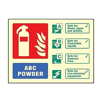 Amazon.com: Fotoluminiscente ABC polvo seco Cartel de ...