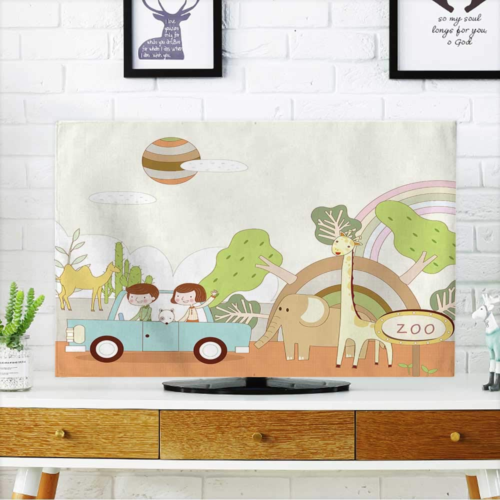 PRUNUS Cover for Wall Mount tv Travel Zoo Cover Mount tv W19 x H30 INCH/TV 32''