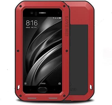 LOVE MEI Xiaomi Mi 6 Shockproof Funda, Metal Aluminio Cover ...