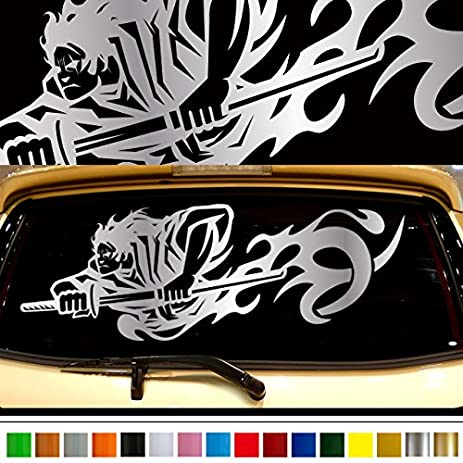 Samurai car rear sticker 32 car custom stickers decals 【8 colors to choose from】