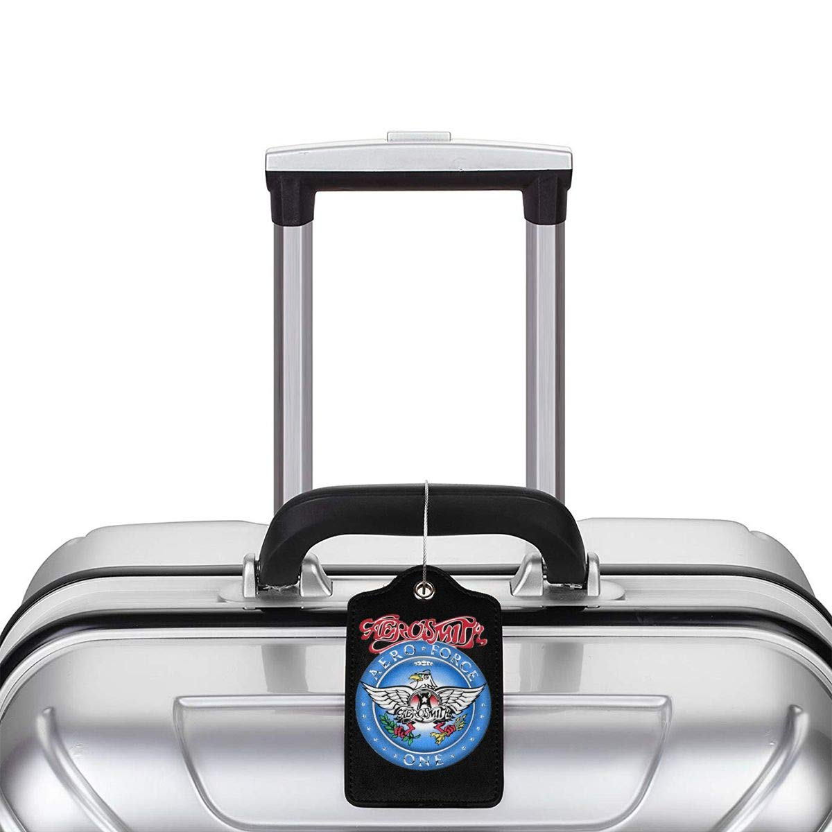 Aerosmith Aero Leather Luggage Tag Travel ID Label For Baggage Suitcase