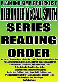 Alexander mccall smith list of books in order