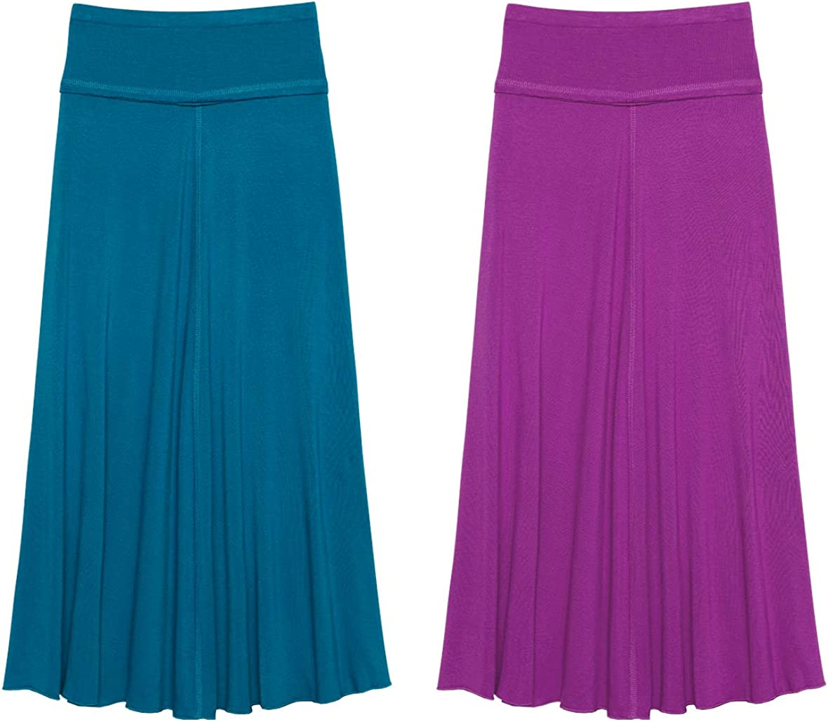 KIDPIK 2-Pack Maxi Skirts for Girls 4 Years & Up - Comfy Modest Clothing - 2 Colors/Skirt Set: Clothing