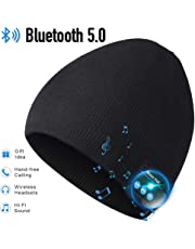 Bluetooth Beanie,Mens Gifts, Bluetooth Hat, Mens Beanie Hats V5.0 Headphones Beanie, MIC for Hands-Free Call,Music,Running, Skiing,Women Mens Gifts. Electronic Gifts for Men, Fashion Gifts for Women