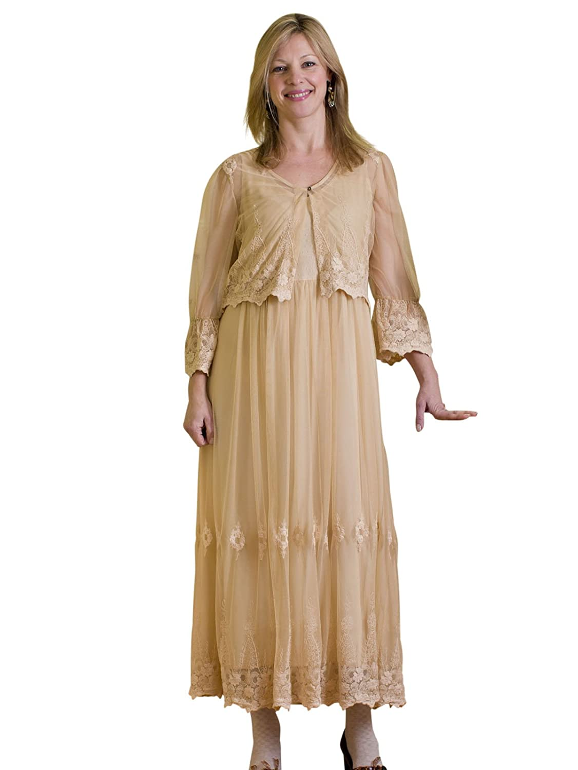 Edwardian Style Dresses Genevieve Dress $124.50 AT vintagedancer.com