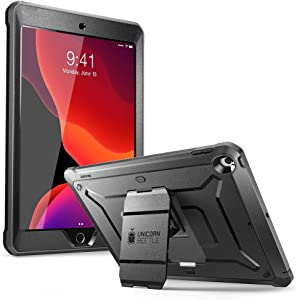 SUPCASE Designed for iPad 10.2 2019, iPad 7th Generation, [Unicorn Beetle Pro Series] with Built-in Screen Protector and Dual Layer Full Body Rugged Protective Case for iPad 10.2 Inch 2019 (Black)