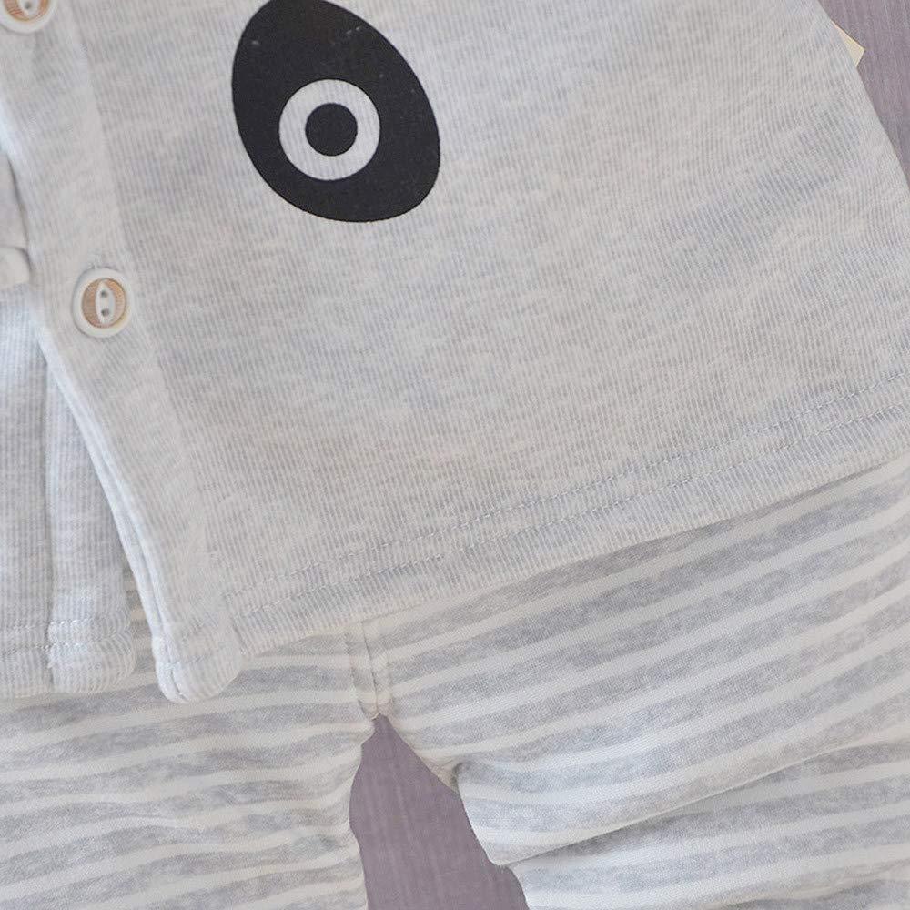 Baby Kids Little Girl Boy Cartoon Tops TM Little Kids Pajamas Sets,Jchen Striped Pants Sleepwear Outfits for 0-4 Y