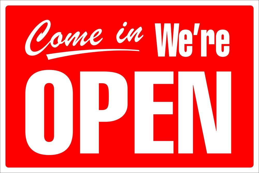 Cartel Cosco, abierto/cerrado con reloj (098013) 8 x 12 ...