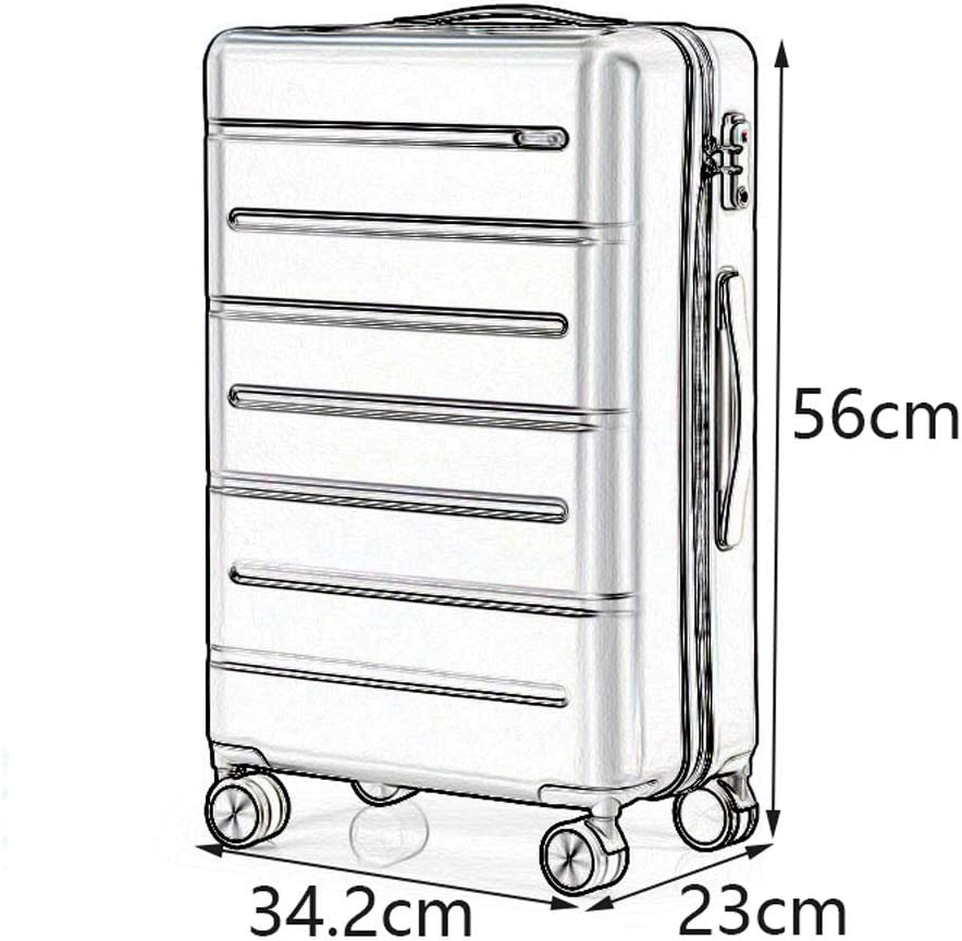 Stylish Small Fresh Universal Wheel Student Large Capacity Boarding Suitcase Reasonable partition 3 Colors 2 YD Luggage Set Trolley case TSA Customs Code Lock ABS//PC
