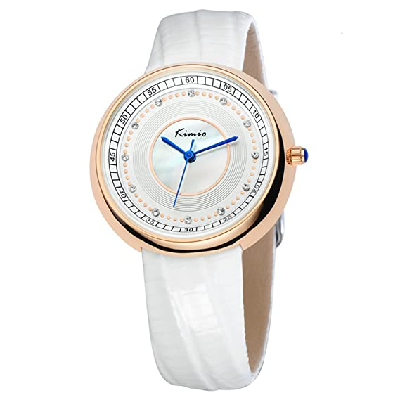 Mujeres Jin Miou Descuento Reloj de pulsera de moda Realmente Relojes superficie de la correa de cuarzo Mujer coreana Shell: Amazon.es: Relojes