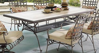 Image Unavailable - Amazon.com : MYCO Furniture Tile Top Patio Table : Garden & Outdoor