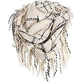 Tefamore Femmes Echarpe foulards longue de cou de châle de laine de  cachemire de point coloré 5d9794ca53a