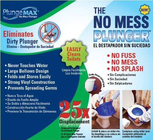 PF WaterWorks PlungeMAX No Mess, Sanitary Toilet Plunger; PF0507 by PF WaterWorks