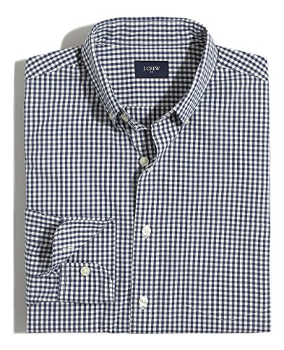 J.Crew Slim Fit Washed Plaid Button Down Shirt