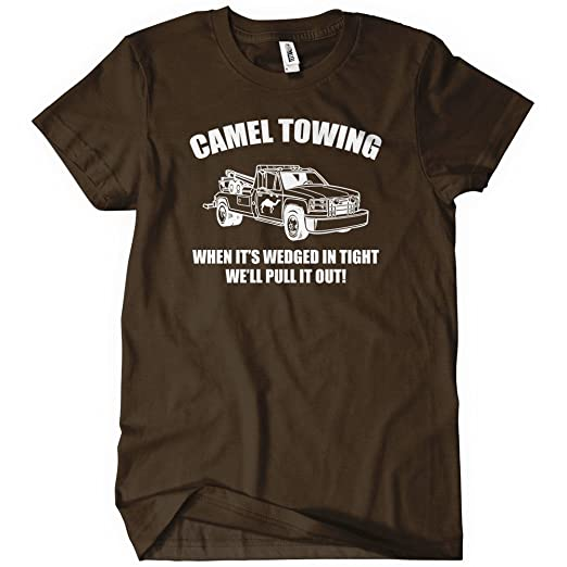 8c199fb17 Image Unavailable. Image not available for. Color: Camel Towing Mens T-Shirt  Tee Funny Tshirt Tow Service Toe College Humor Cool