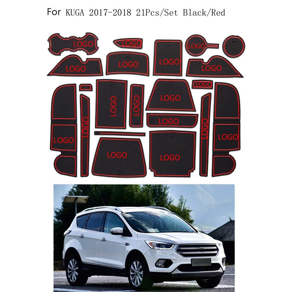 Busirde Car Non-slip Cup Mats Anti Slip Door Groove Gate Slot Pad Mat Kit for Nissan Qashqai 2016 Interior Decoration