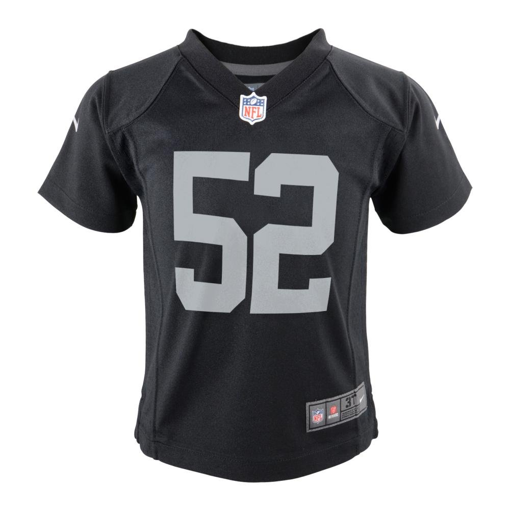 best quality 06499 c601b Nike Khalil Mack Oakland Raiders Team Color Toddler Game Jersey