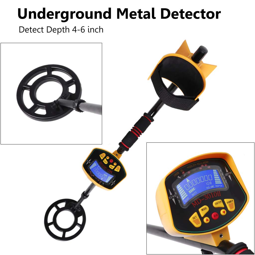 Aawsome Detector De Metales Subterráneo MD-3010II Gold Digger Treasure Hunter Deep Sensitive: Amazon.es: Hogar