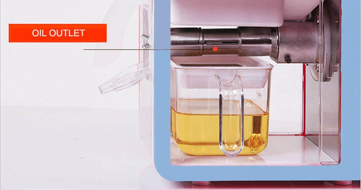 aboom Home Series frío Extractor de prensa de aceite para 18 aceite de tipo de plantas., acero inoxidable, azul: Amazon.es